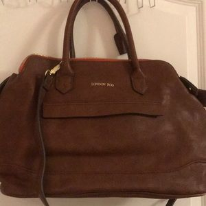 London fog leather satchel